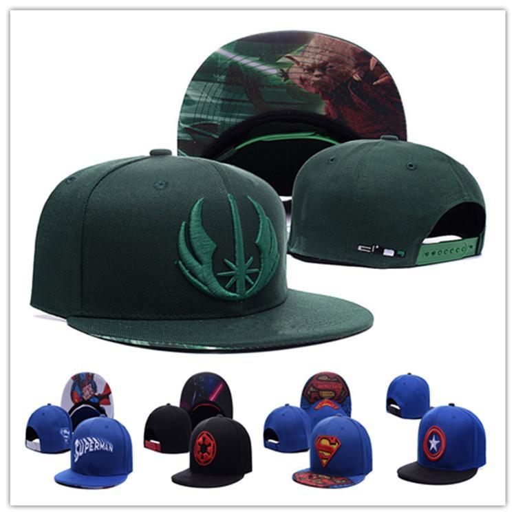Cheap Snapback Hats Superman Flat Brim Marvel Comics Hat Cartoon Cap  Captain America c2a041d87e2