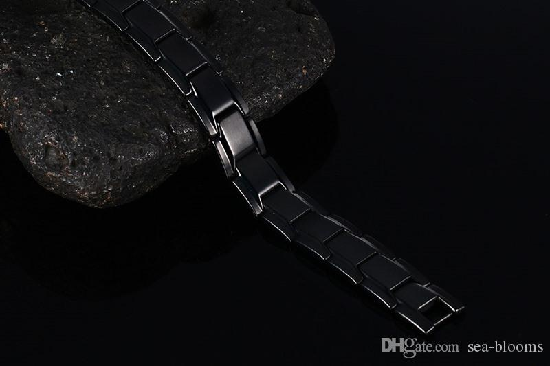 Fashion Elegant Titanium Magnetic Therapy Bracelet Pain Relief for Arthritis and Carpal Tunnel Therapy Magnetic Bracelet Mens Gift B845S
