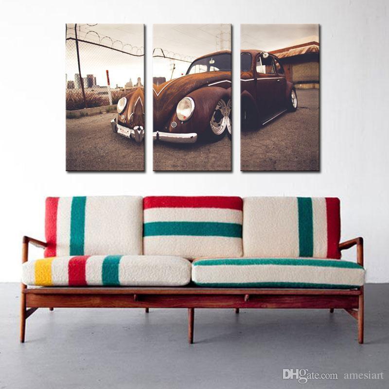 Best 3 Picture Combination Wall Art Vw Beetle Volkswagen Vintage ...