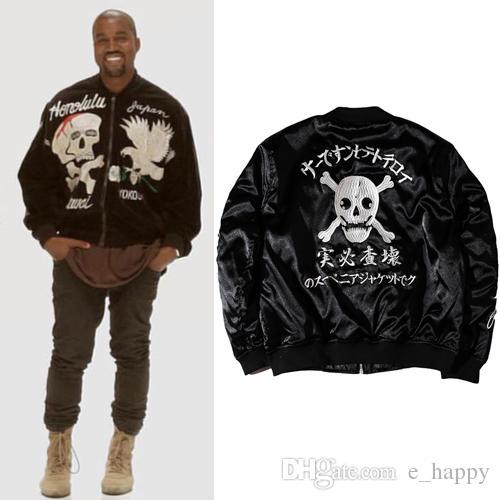 West West Skeleton Acheter Acheter Brodé Hommes Veste Kanye Aigle Streetwear Punk 6xSw5Sqn0