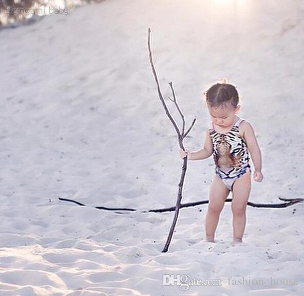 Einteiler Kinder Ins Tiger Badeanzug 3D Tiger Print Badeanzug Für Mädchen Marke Neue Kinder Tier Bademode Mädchen Badeanzüge Mädchen Badebekleidung