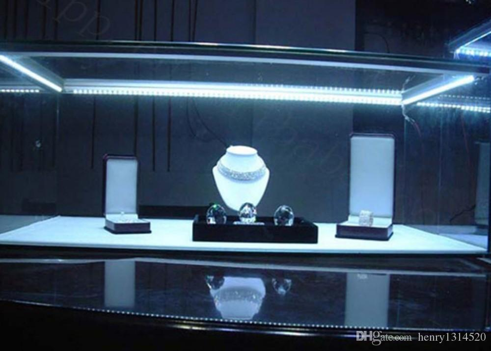 2m/pcs 50mNew Design LED Linear Light Cabinet Profile with Milky White or clear cover and plastic end caps