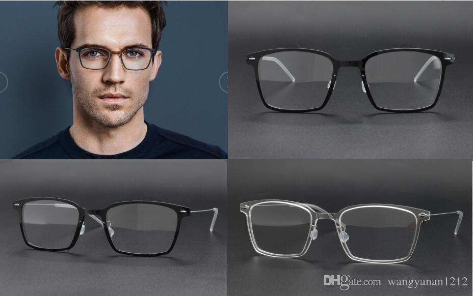 2625086b63e69 Compre 6536 Óculos De Armação Clara Lente Designer Prescrição De Óculos Não  Há Parafuso Estilo De Design Homens Mulheres Marca Óculos Quadro De ...