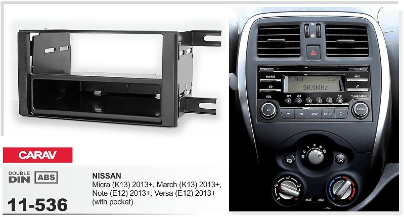 carav 11 536 car radio fascia panel for nissan micra k13 march k13 note e12 versa e12 stereo. Black Bedroom Furniture Sets. Home Design Ideas
