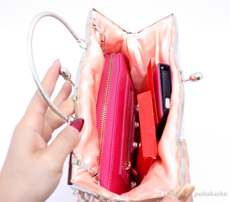 Женщины Eevening ну вечеринку сумки день клатчи рамка мешок муфты Кристалл клатч вечерние сумки Леди свадьба портмоне HQB1492