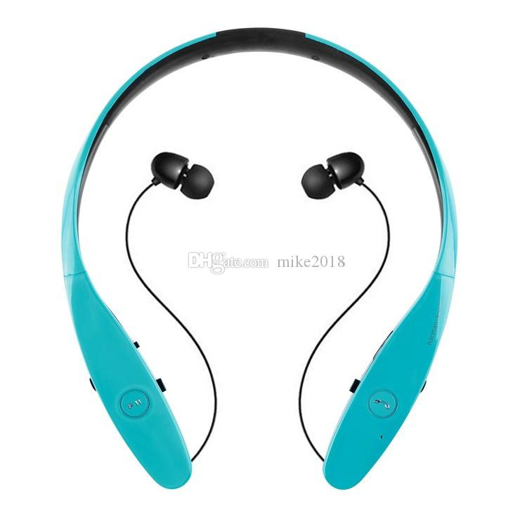 2017 venta caliente HBS900 Wireless Bluetooth 4.0 Sport Auriculares estéreo para auriculares con micrófono estilo de banda para el cuello para iPhone Samsung LG HTC