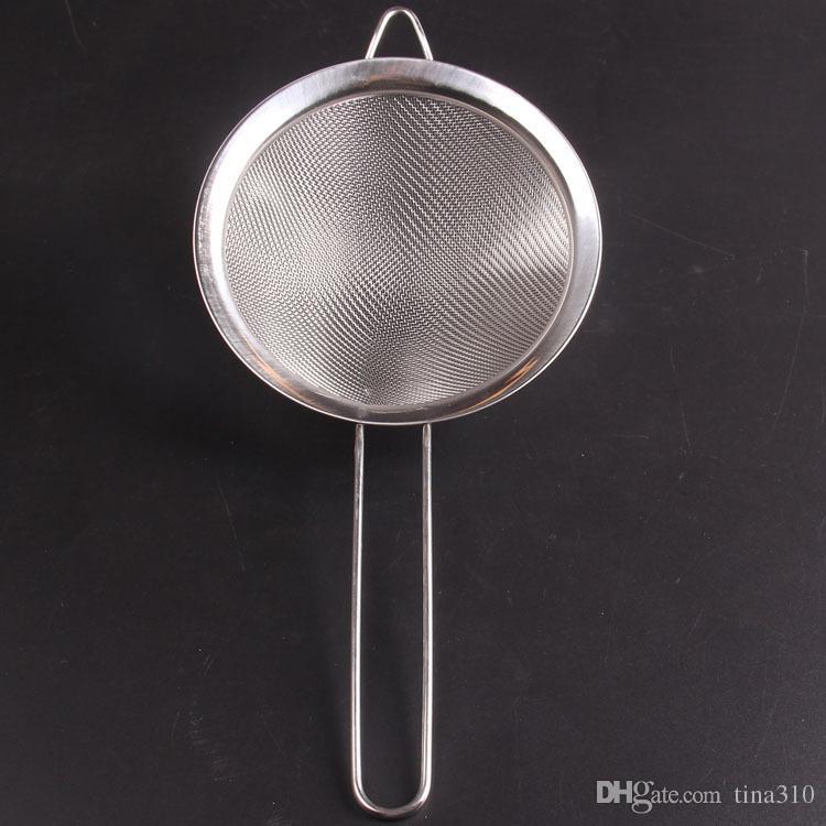 Cantidad alta Nuevo 100 unids / lote colador de malla fina coladores de acero inoxidable coladores de alimentos colador IC912