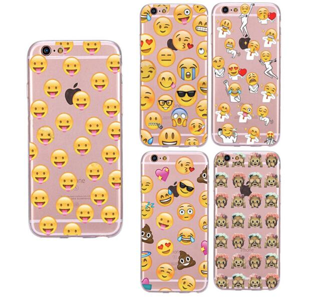Funny 3d Cartoon Cases Emoji Pattern Soft Tpu Cases Waterproof For