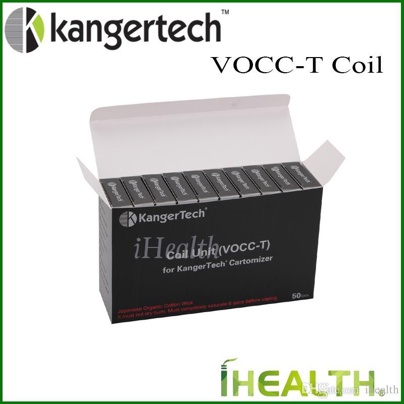 Kanger VOCC-T Coil Unit 1.5ohm 1.2ohm 1.8ohm Kangertech Topevod kit Aerotank EVOD Glass 2 Mini Protank Authentic VOCC T coil testa