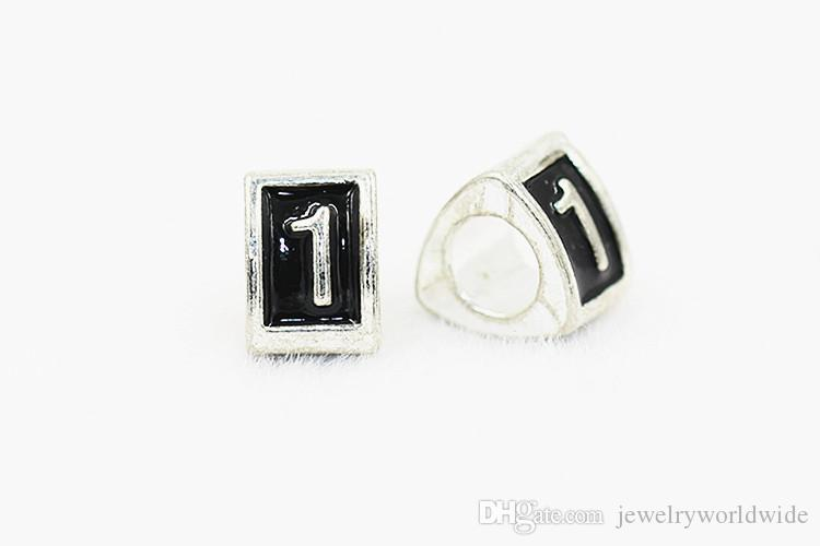 10 Numbers Triangle Alloy Charm Bead Dripping 925 Silver Fashion Women Jewelry Stunning Design European Style For Pandora Bracelet 0 To 9