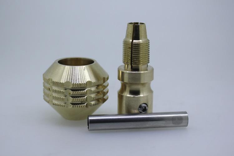 20.16! New! 30mm Copper Tattoo Grip Ribbed Tattoo Aluminum Copper Tattoo Grips for Tattoo Material Supply