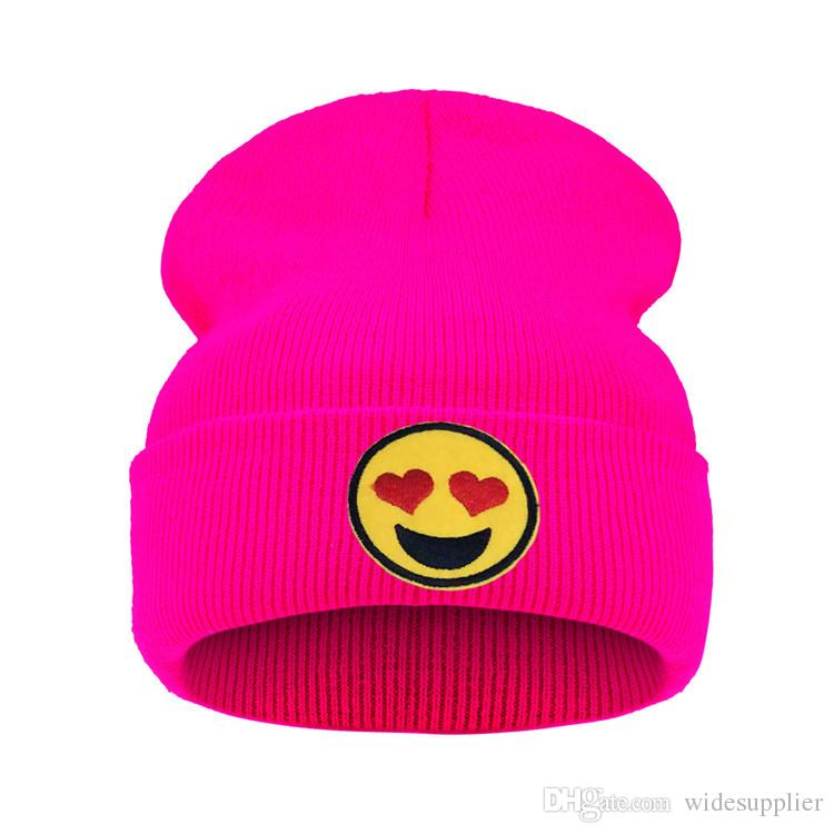 Heart Emoji Beanie winter knitted skiing wool hat Headgear Headdress Head Warmer Skiing warm hat A Little guy with a great big heart