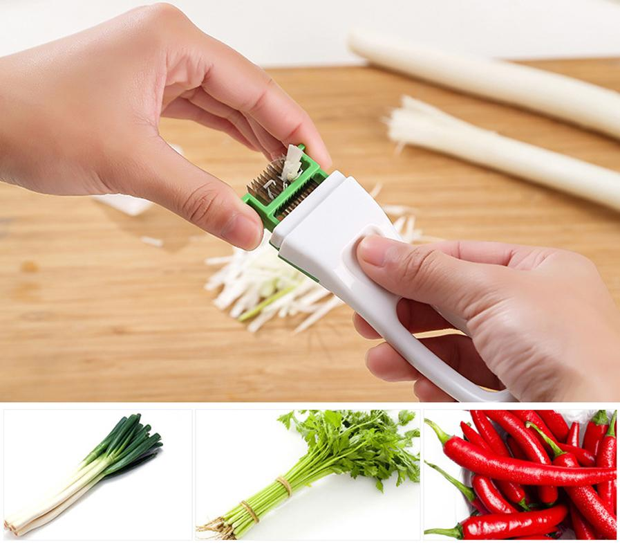 Sharp Kitchenware Vegetable Cutter Slicer, Magic Shredded Green Onion Knife Cut Cooking Tools Kitchen Accessories
