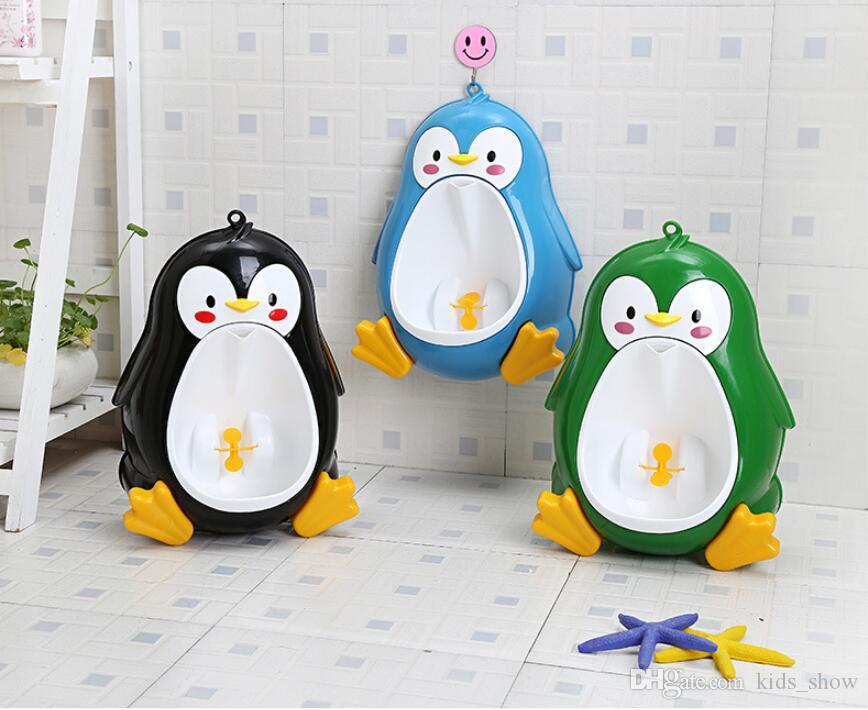 Frog Children Potty Toilet Training Kids Urinal For Boys Pee Trainer Portable Wall-hung Type Boy Kids Toilet Leakproof Children Potty Brush