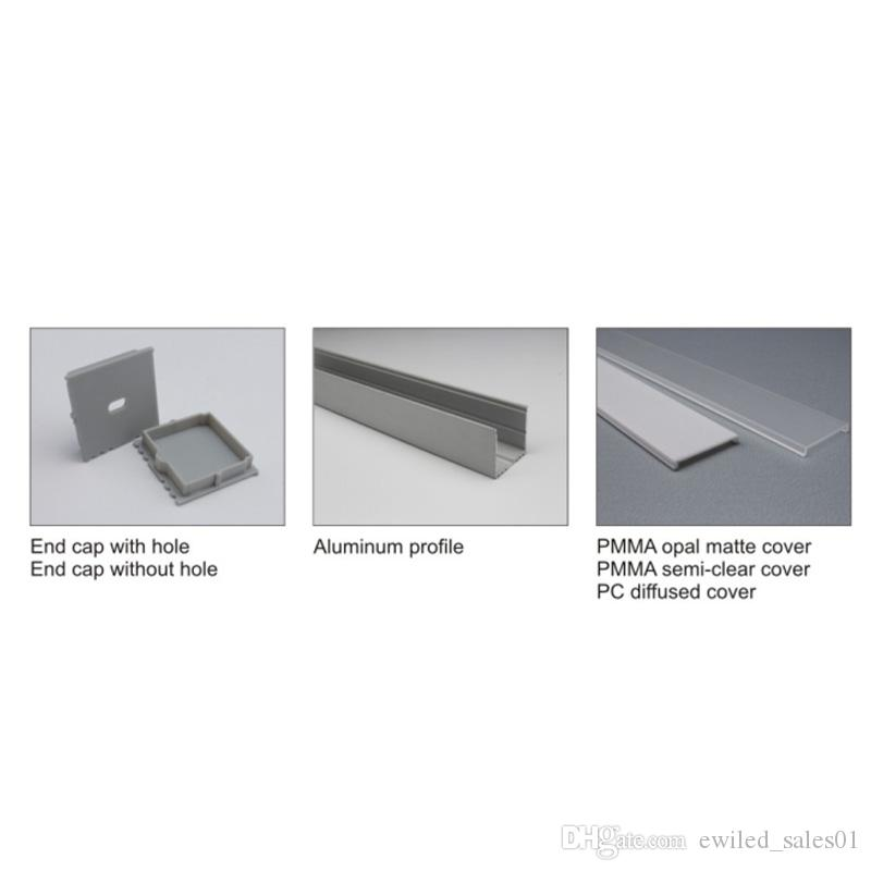10 X 1M setsLed strip lighting aluminum channel and Al6063 aluminium u profile for ceiling or recessed wall lamps