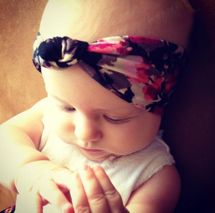 Bohemian Infant Flowers Knots Headband Headwrap Baby Head Bands Kids