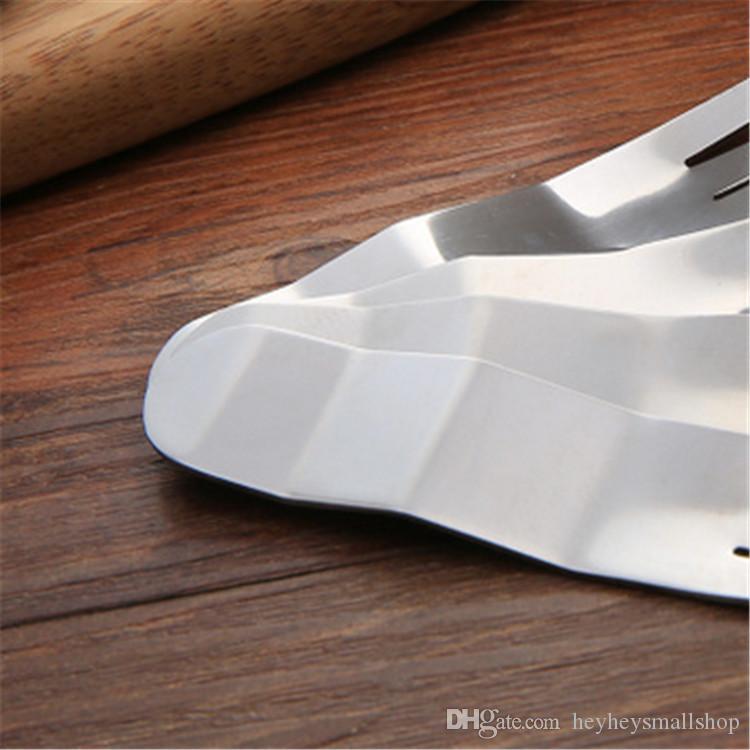 Aço inoxidável de Preços por Atacado Scrub ondulado design brilhante polonês 18/0 bolo Forks Silver Forks bolo