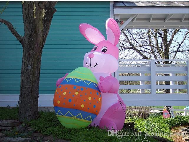 coelhinho da páscoa inflável cor-de-rosa bonito da qualidade superior para comemorar a páscoa