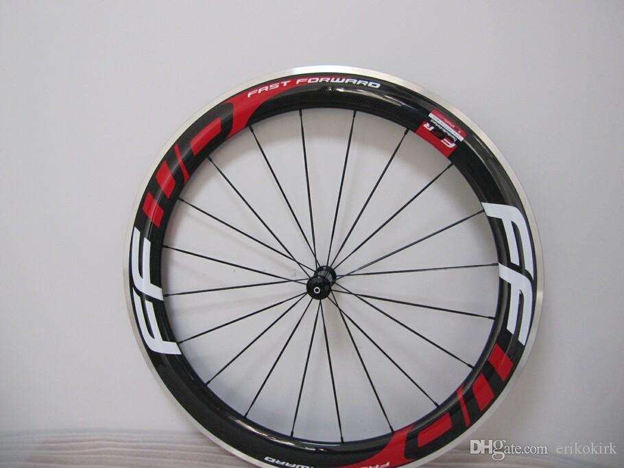 60mm FFWD carbon wheels Alloy clincher road bike carbon wheelset with 700C matte black wheels with black R13 hubs