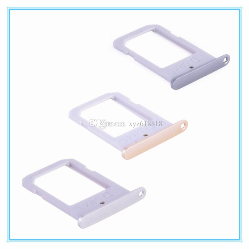 Nouveau Remplacement de la carte SIM pour support de carte Slot pour Samsung Galaxy S6 G9200 G920F / S6 Edge G925F G9250 Support de carte SIM Slot Tray Container Adapter