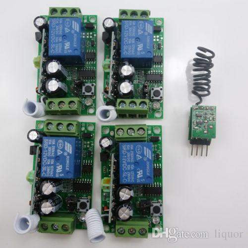 4 CH UART TX ARDUINO UNO R3 USB PC Software RF Control DC12V Relay Receiver  433M