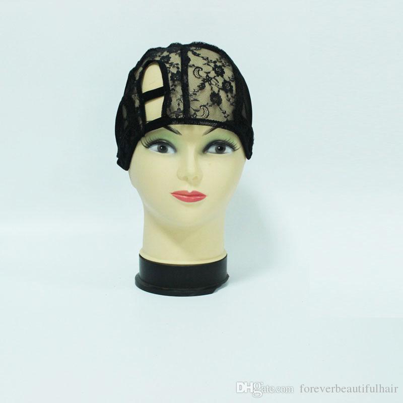 Правая часть U часть парик шапки для изготовления париков S / M / L U часть парик шапки регулируемый ремень на спине