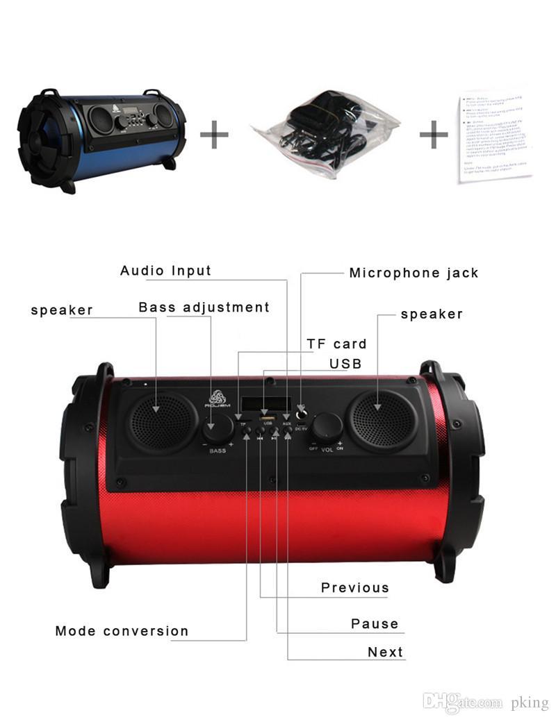 Portable 15W Big Power HiFi Sans Fil Bluetooth Haut-Parleur Woody Multifonction Subwoofer Cool LED Lumière Stéréo Basse Lecteur de Musique