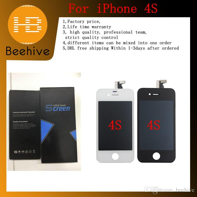 AAA+ For Apple IPhone 4S OEM LCD Screen Lcd Digitizer Lcd Display ... 590ec25461