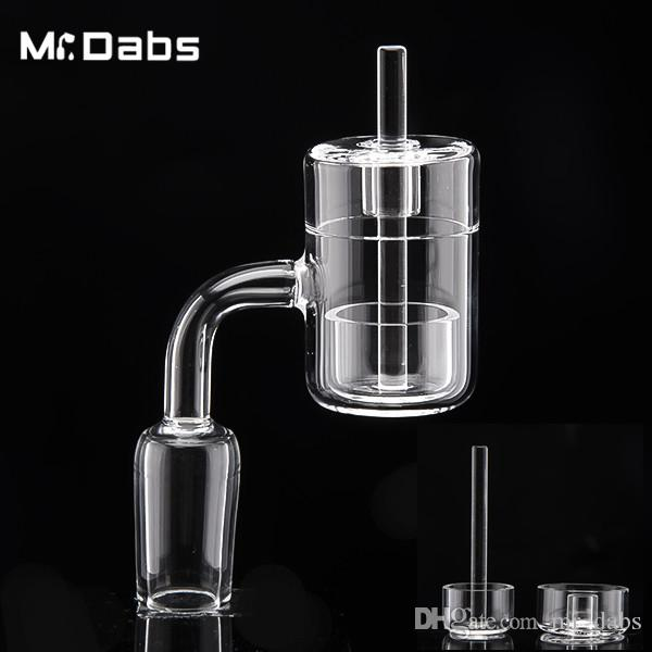 Novo projetado térmica Banger com Hard / Hollow inferior e Quartz Carb Cap + Inner Bowl 10 mm 14 mm 19 mm Bangers de quartzo em Mr_dabs