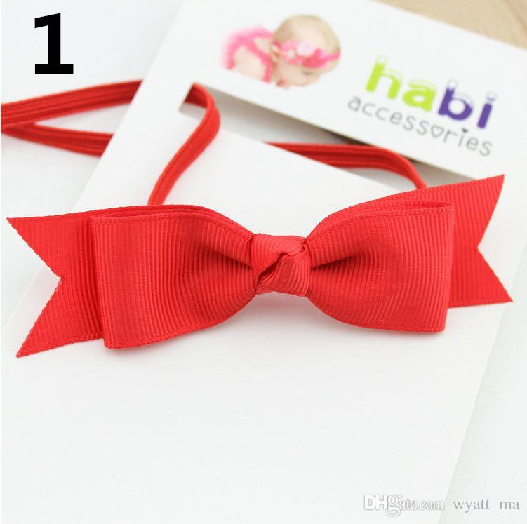 2018 New Fishtail Bow Headband Headwear Kids Hair Accessories For Baby Girls Baby Girl Headband Newborn Headbands Baptism Hair Bows