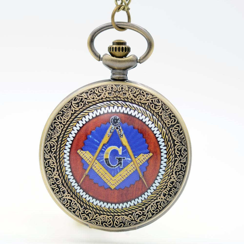 2db7e2638f59 Wholesale-Masons Freemasonry G Fob Watches Quartz Pocket Watch Women ...