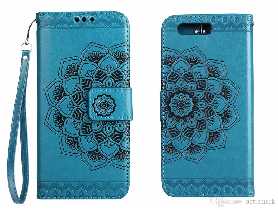 detailed look d804c 290fa Flip Cover For HUAWEI P10 Lite P10 Plus Case Wallet Luxury Leather Card  Court Classical Flower For HUAWEI P10 Case
