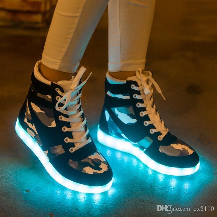 33167e2b998 Wholesale Cheap Lights Up Led Luminous Casual Shoes High Glowing ...