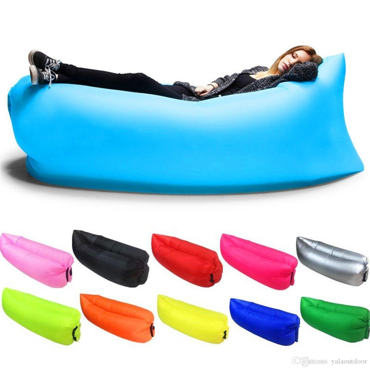 Inflatable Lounger Outdoor Air Sofa Indoor Inflatable Chair With Carry Bag  Nylon Fabric Down Sleeping Bags Uk Camping Equipment Sale From Yalaoutdoor,  ... - Inflatable Lounger Outdoor Air Sofa Indoor Inflatable Chair With