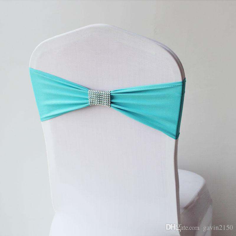 High Quality Colorful Chair Cover Band With Mesh Buckle For Hotel Wedding Decoration