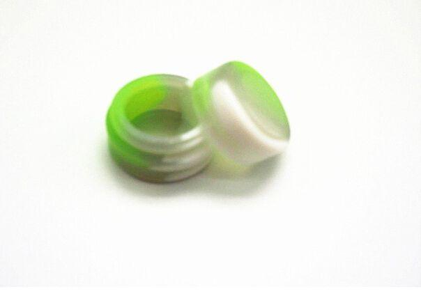 1000X mini FDA aprovado armazenamento de óleo de armazenamento redondo rodada recipiente de concentrado de silicone 2 ml cor misturada Dabs caixa de cera seco de alta qualidade