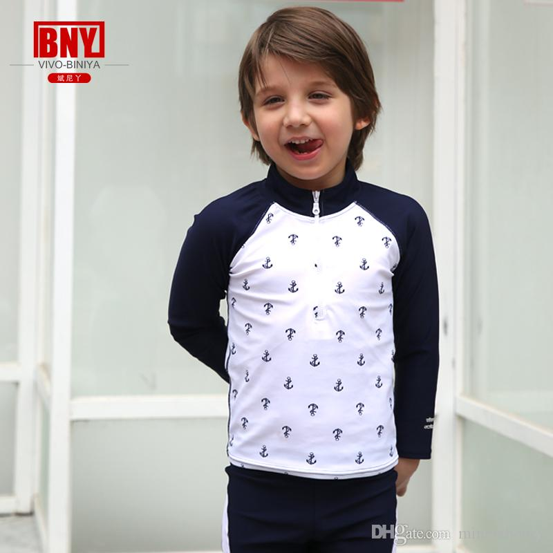 e3d88c2be1efc 2019 Children UPF50+ Quick Drying Highly Elastic Comfortable Swimwear Long Sleeve  Swimwear Two Piece Swimsuit With Swimming Cap From Minniehoney, ...