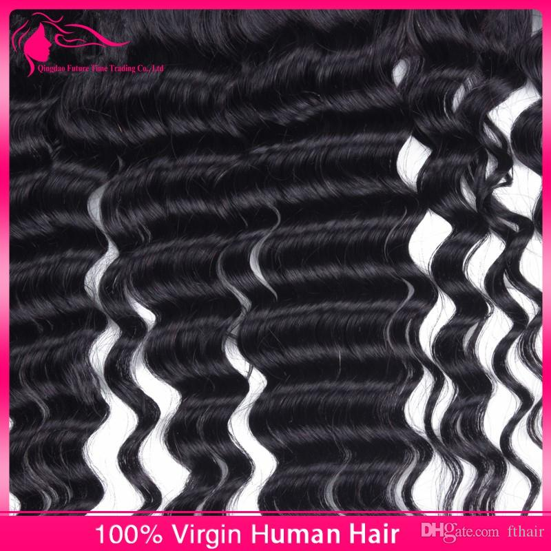 Unprocessed Mongolian Hair Lace Frontal Closures 13x4 Ear to Ear Human Hair Lace Frontals With Baby Hair Deep Wave Full Lace Frontals