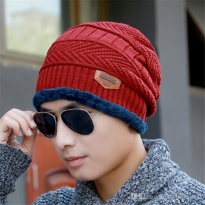 b7e72c8199d8c 2017 New Knitted Winter Hat Scarf Beanies Knit Men S Winter Hats Caps  Skullies Bonnet For Men Women Beanie Casual Neck Warmer Hats And Caps Beany  From ...
