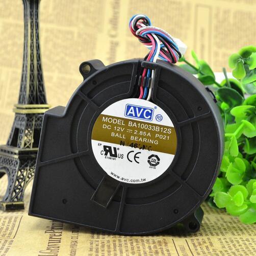 AVC BA10033B12S 9733 2.85A 12V à quatre fils double boule grande turbine ventilateur centrifuge ventilateur de volume