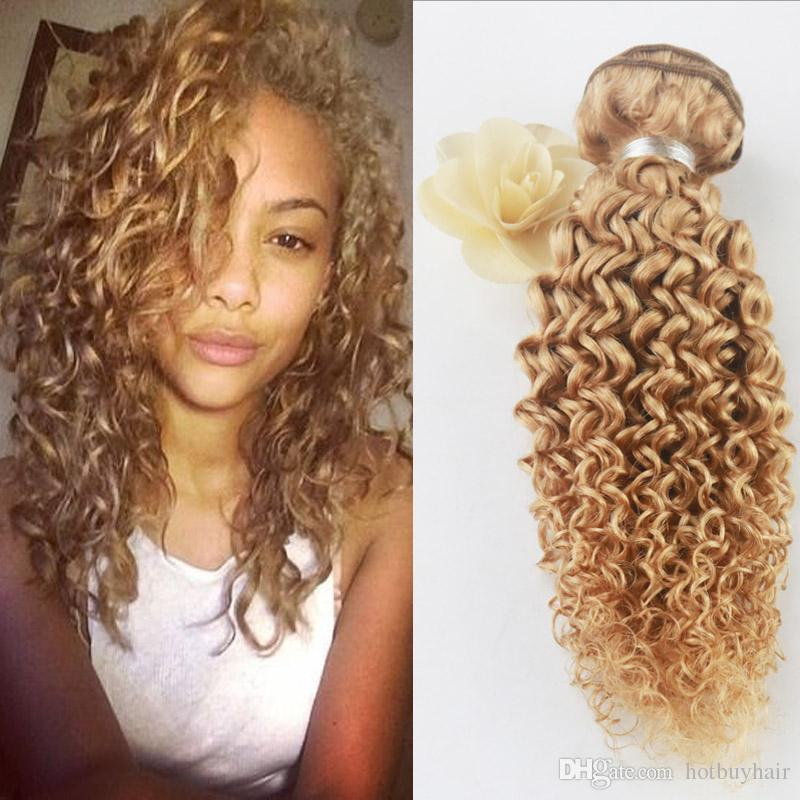 Different Style 8a Grade Afro Kinky Curly Hair Pure Color 27 Virgin
