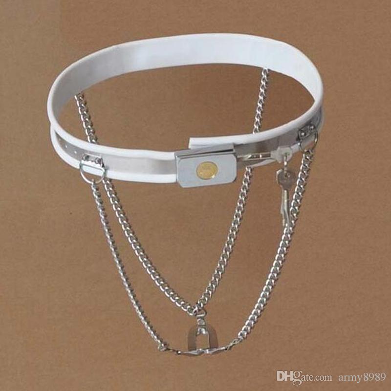 mutandine cintura di castità in acciaio inox bondage sessuale Dispositivi slave fetish, abbigliamento donna sex toys, girovita regolabile