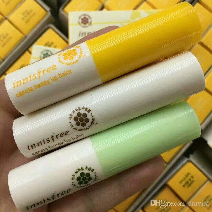2017 famous brand innisfree canola honey lip balm smooth care deep moisture 3.5g 3 kinds styles Protect wet moist lips Care