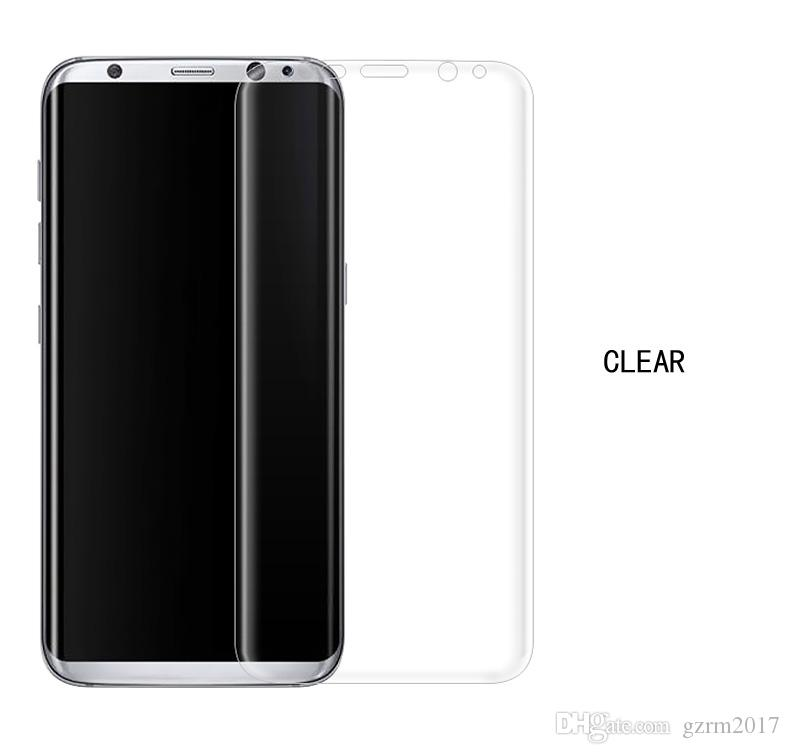 For Samsung Galaxy S8 Plus SM-G955 6.2 PET Plating Protective Film Full Cover Tempered Glass Screen Protector 9H 4D 0.26mm Six Color