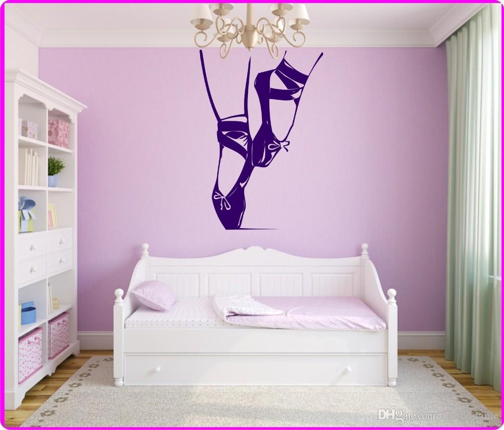 Wall Stickers Home decor Vinyl Decal Ballet Dancing Shoes Bows Classic Theater Girl Room Ballet Shoe Dance Sport Pointes