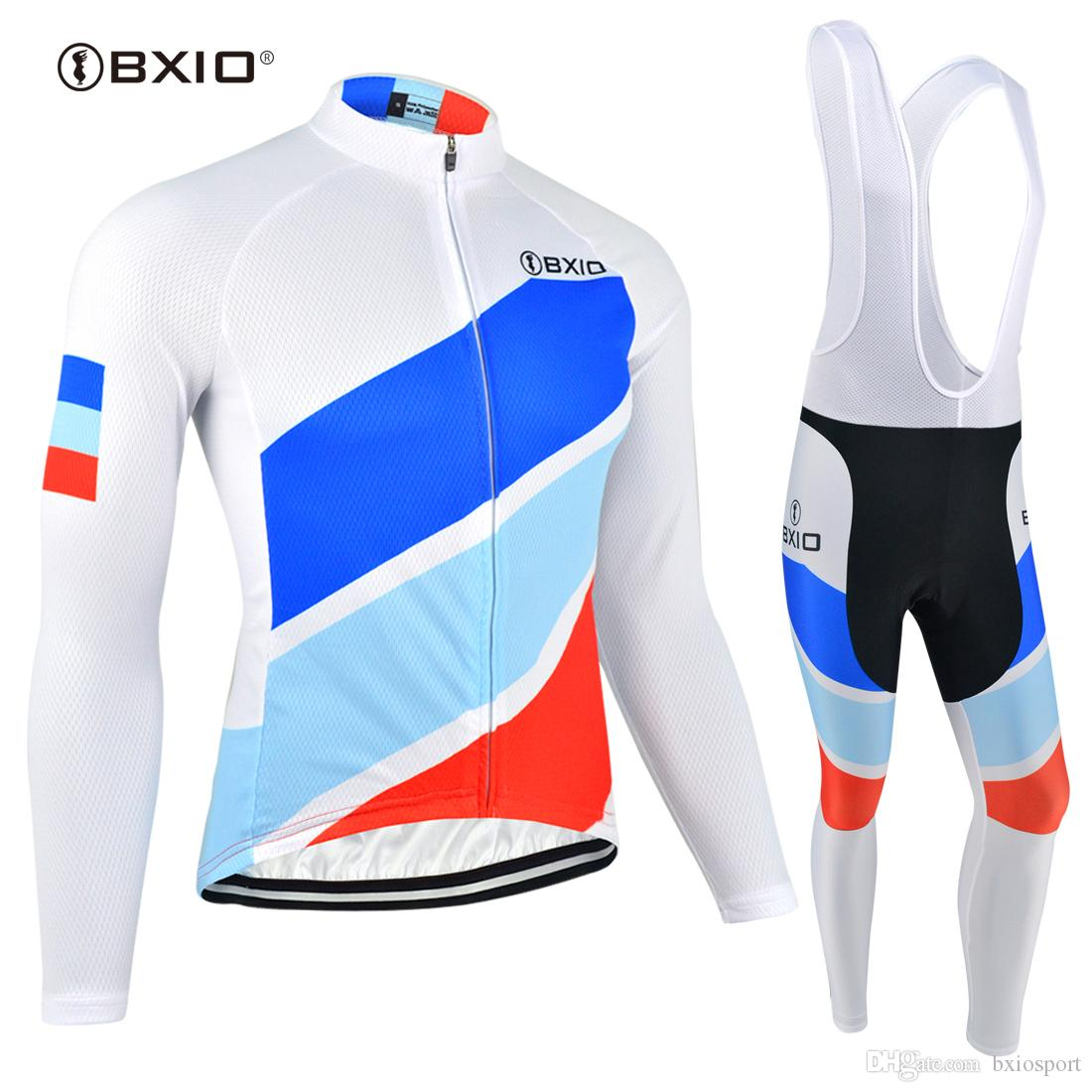 212e28c27eb BXIO 3D Gel Pad Cycling Jersey Winter Thermal Fleece Autumn Bike ...