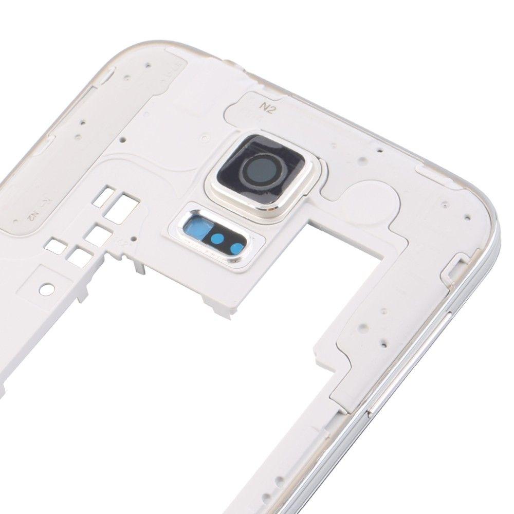 100 unids DHL OEM Marco Medio Marco Bisel Trasero Vivienda con Reemplazo de Piezas para Samsung Galaxy S5 G900 G900A G900T G900P G900 G900F