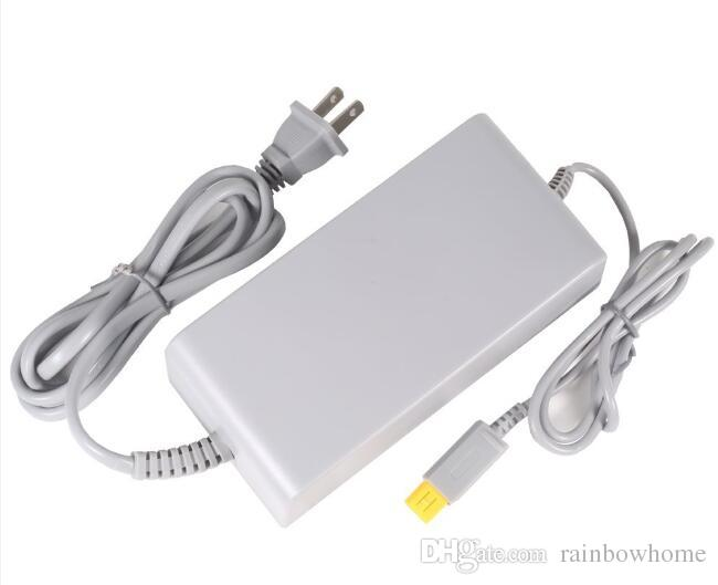 Fuente de alimentación 100-240V Adaptador de CA para Wii U Game Console Adaptador de alimentación proveedor Cargador de pared EE. UU. Enchufe de la UE con caja de venta al por menor