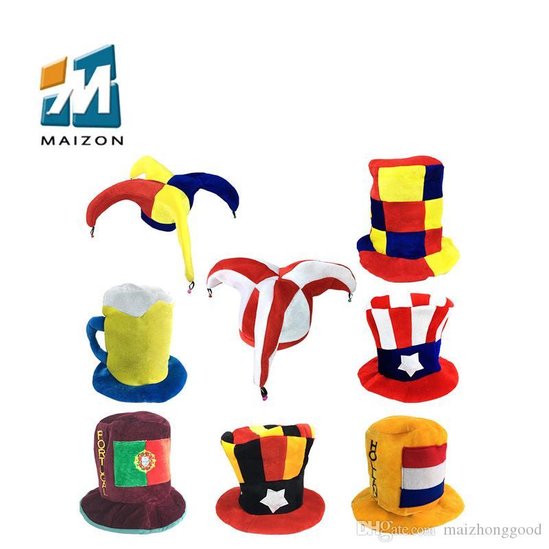 Funny Clowns Christmas Hats Adults Clown Props Clown Hat Makeup Ball ...