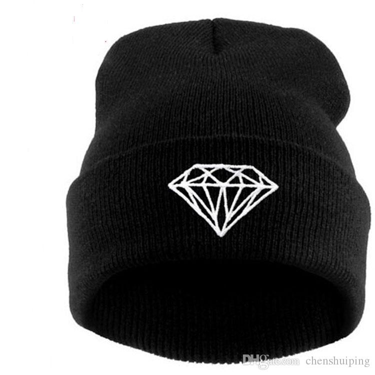 Hats New Arrival Fashion Brand DIAMOND Beanie Hat Football Skullies Wool  Zen Style Winter Warm Knitted Cap Beanie Online with  2.86 Piece on  Chenshuiping s ... 1e0ed9aef9cc